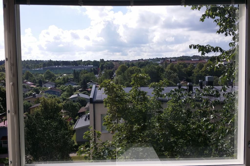 A beautiful view from the top floor with the largest grocery store of Turku within eyesight