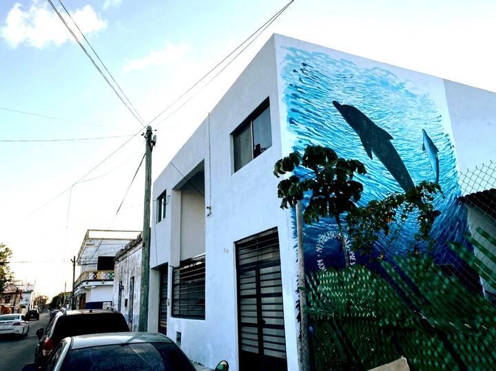 CASA TETE, Ubicada en el centro de Cozumel