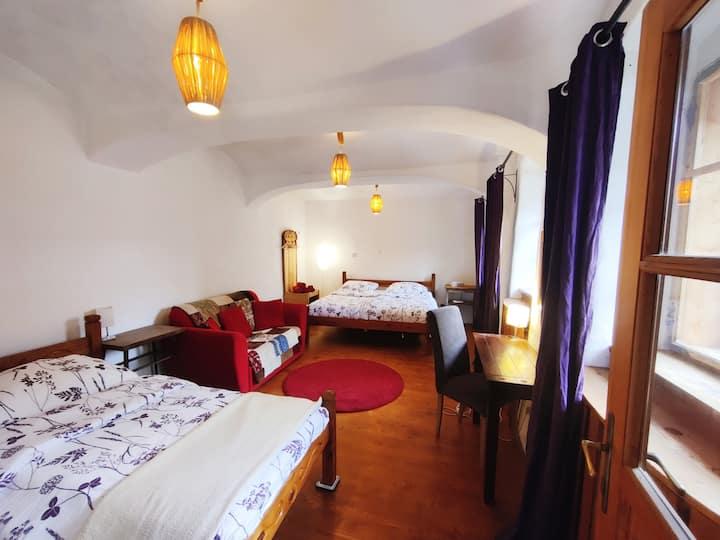 Krumlov House - convenient apartment with parking