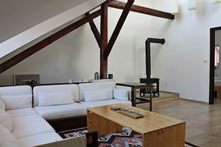Attic with parking, in the center of ČB - Ceske Budejovice - ลอฟท์