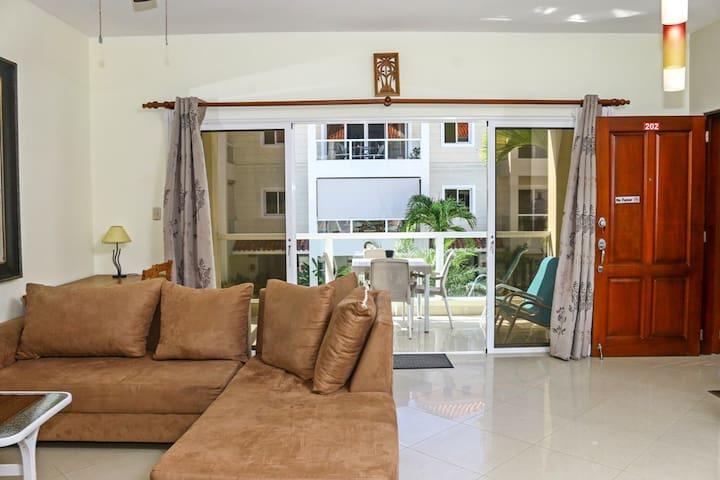 0047-Comfortable one bedroom apt rental  Cabarete