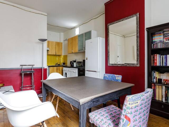 120 m², 5 personnes, 2 chambres, 1 salle de bain