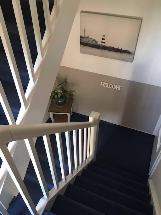 Treppenhaus, separater Eingang