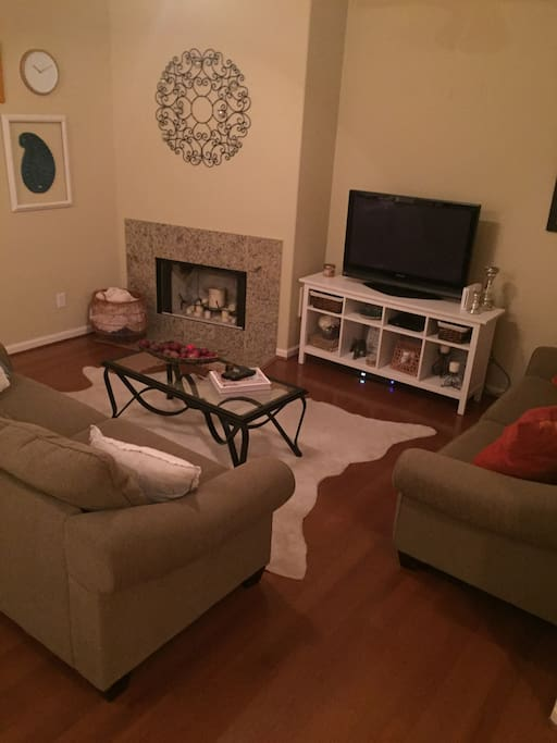 Great living space with comfortable couches for extra guests!
