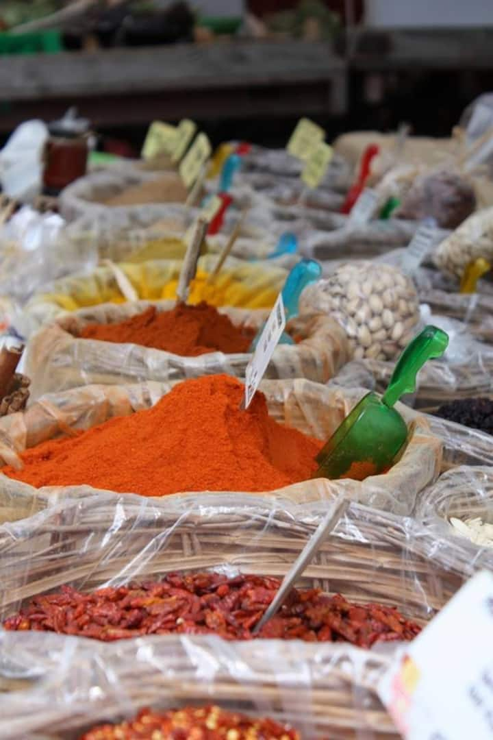 colorful street food in the island of Or