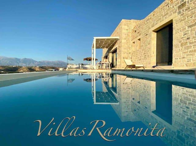 Villas Ramonita, Pitsidia Matala, swimpool&seaview