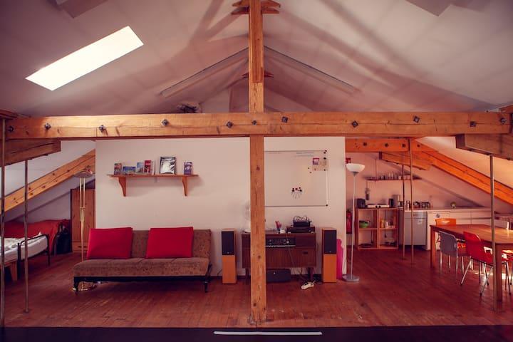 Große Dachwohnung & Seminarraum