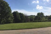Wonderful countryside views towards farm land and Stour Valley