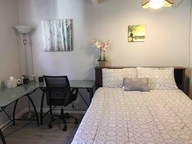 Location! A Cozy bedroom with  a separate entrance