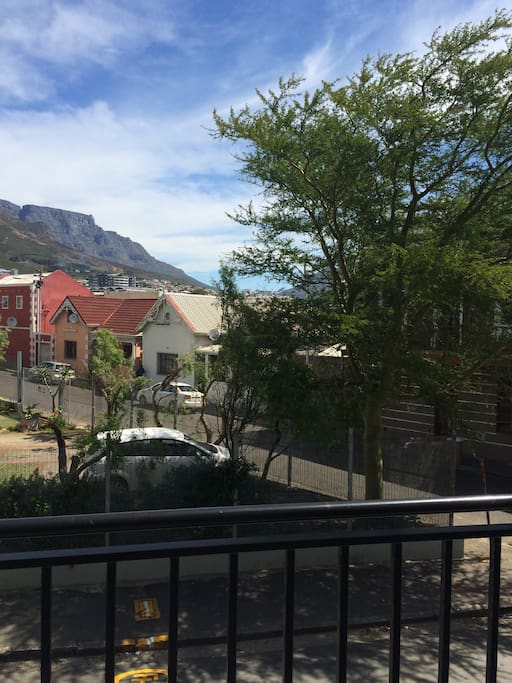 View of Table Mountain from the front balcony