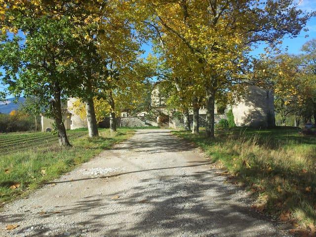 chambre dans une aile du chateau - Menglon - Castillo