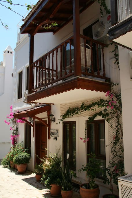 Traditional wooden balconies