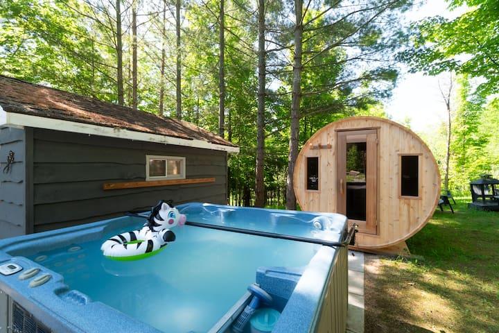 ★ 5 star ★ Ski ★ BBQ  ★ Hot tub ★ Sauna ★ Fire pit