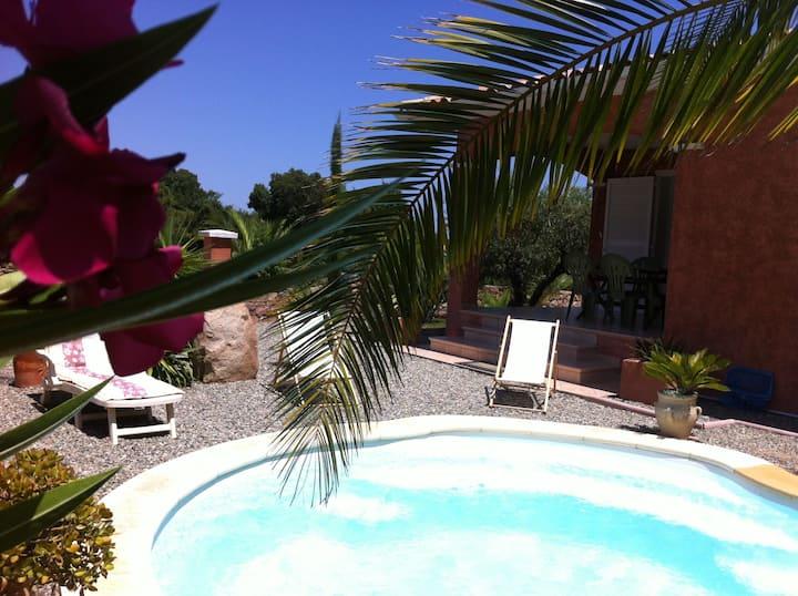 Maison confort piscine privée, proche mer montagne