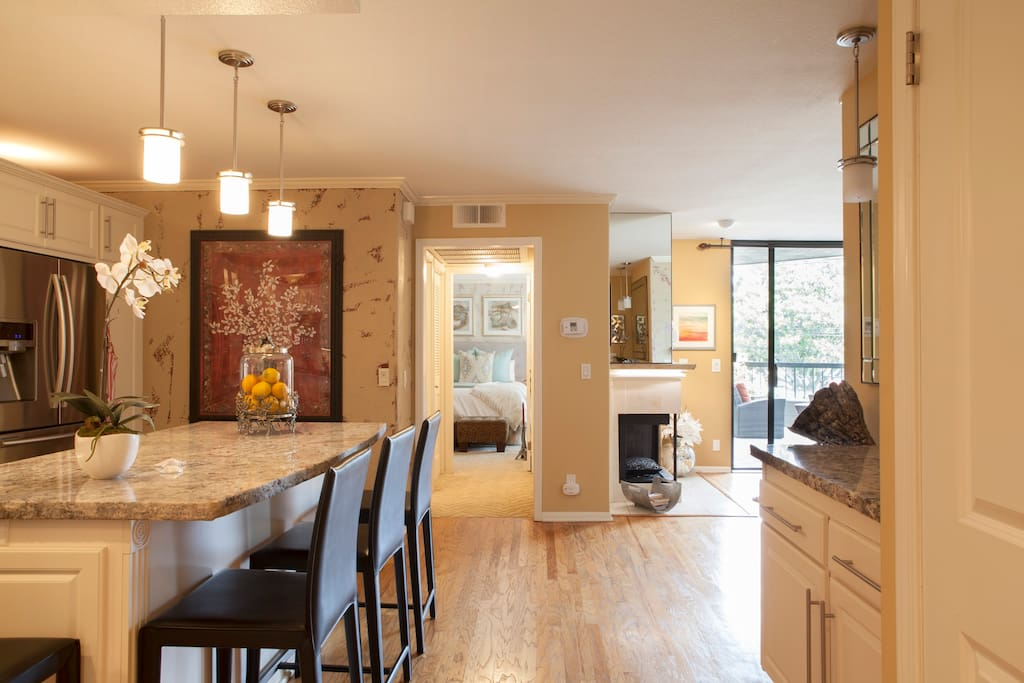 Entry to Gourmet Kitchen and Living Space