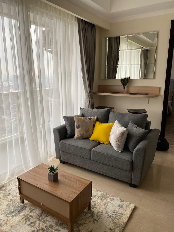 New 2 Bedrooms Apartment in Menteng Park!