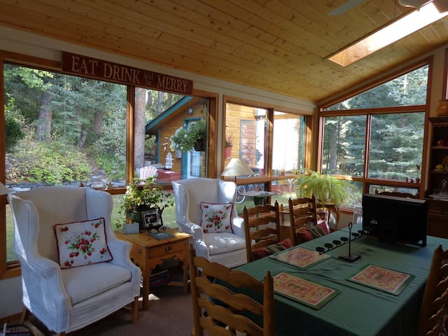 """Family Living in our Amazing """"Garden"""" Room - a space to relax, dine or play"""