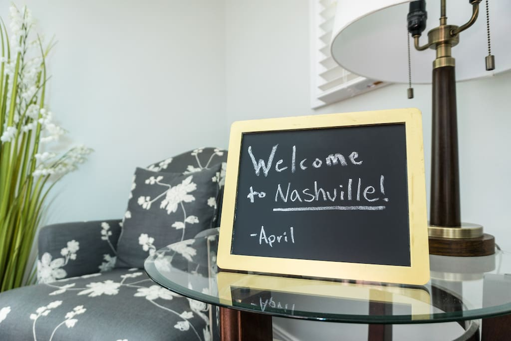 Welcome to Nashville! This house has everything you'll need. Your room even has a super comfortable, aloe memory foam mattress.