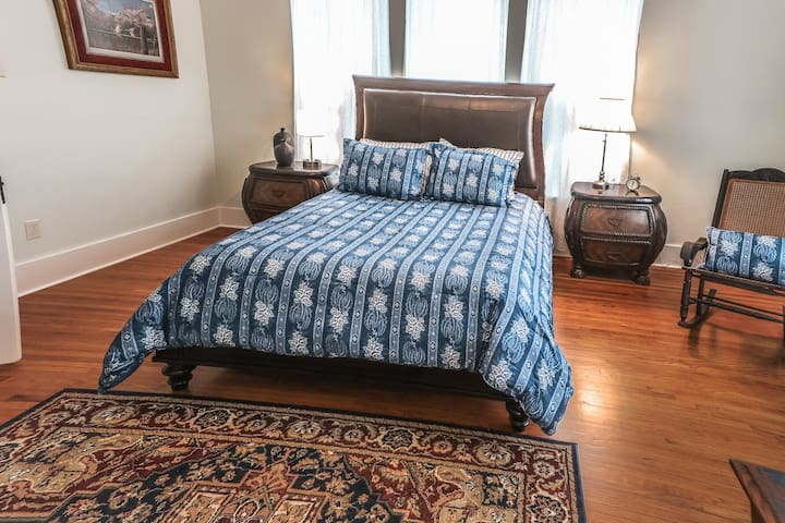 The blue bedroom (upstairs with Jack and Jill bathroom)