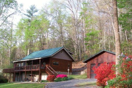 Log Home in South Mountains, Morganton, NC - Morganton - Casa