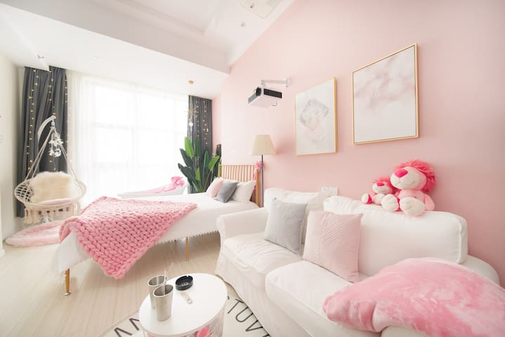 南京南站商圈地铁口宜家毗邻景区市中心新街口loft影院粉色海洋ins风