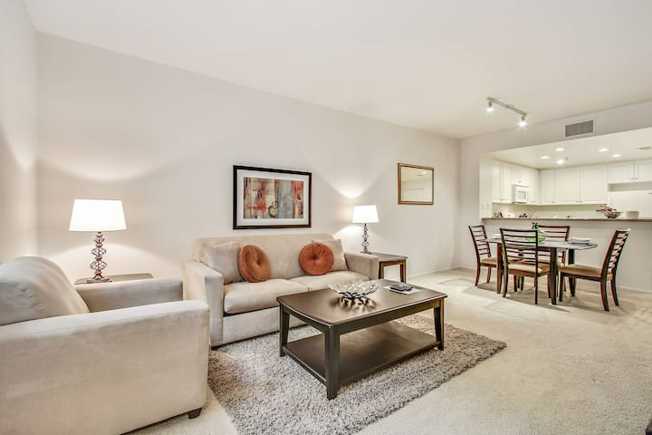 Clean & Private 1BR | Kitchen & Washer/D |San Jose