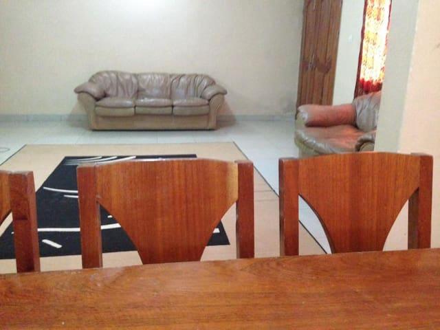 Simple dining area.