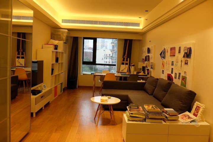 chic,art-work studio apartment,田子坊商圈酒店式公寓 - Shanghai - Serviceret lejlighed