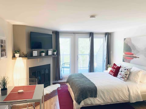 Cozy Modern Studio Tremblant+ Kitchen&Free Parking