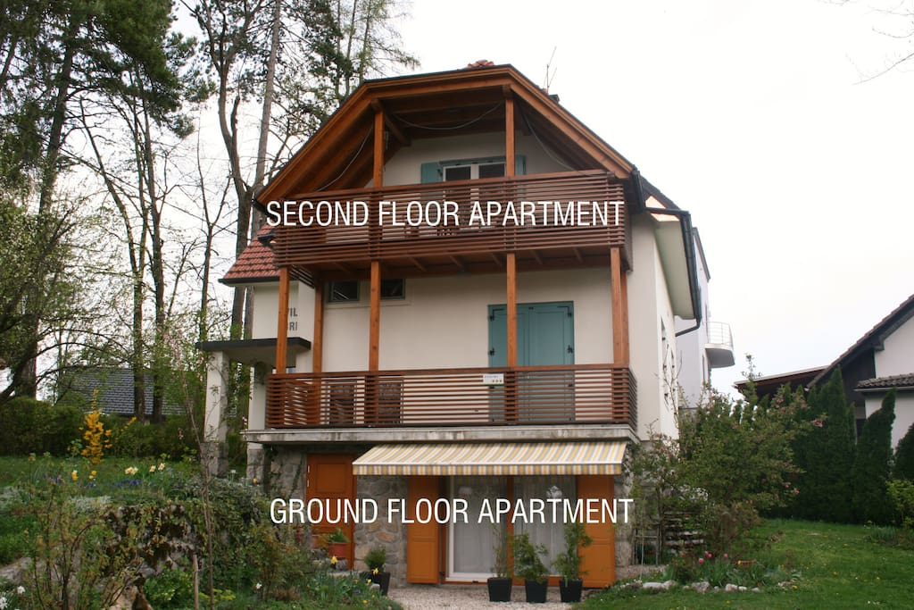 Ground floor and second floor apartment