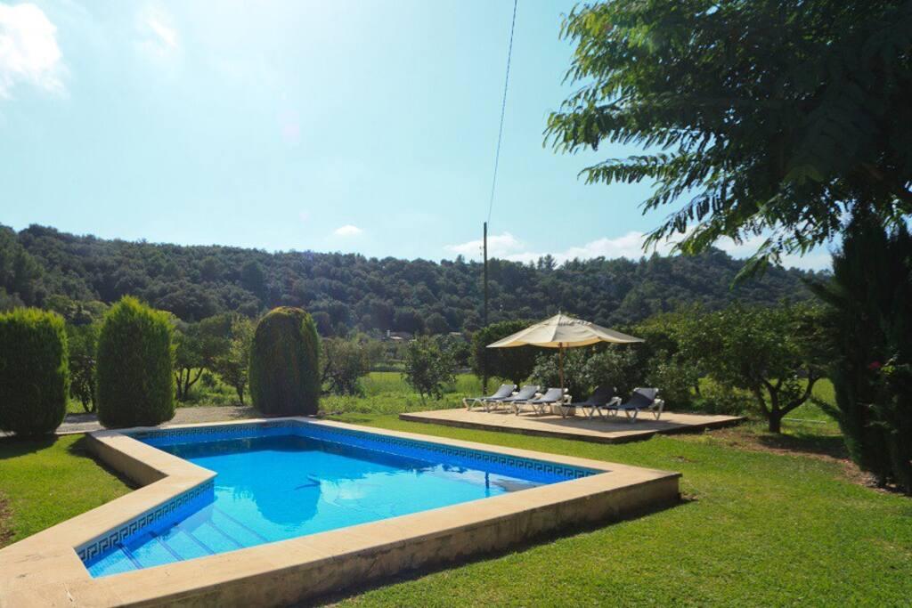 Villa private pool and views