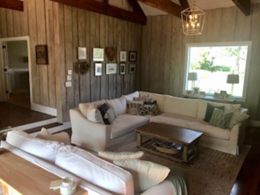 Family room has views of Charleston Harbor