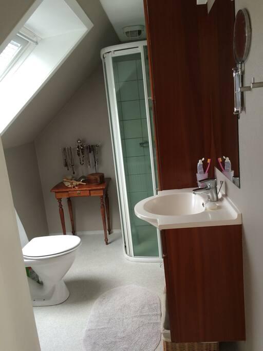Badeværelse til lejers brug