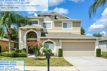 Stunning large 5 bedroom pool home with games room - Davenport