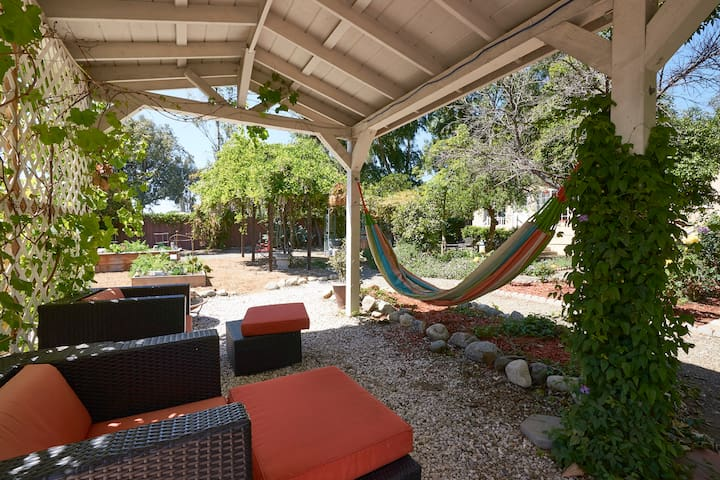 Gazebo and hammock. A wonderful place to relax and enjoy the beautiful day.