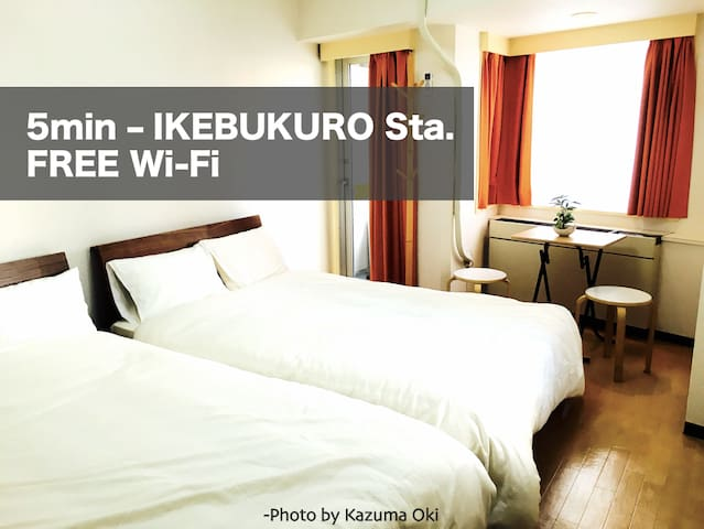 DEEP IKEBUKURO  -5min from Station and Free Wifi! - Toshima-ku - Wohnung