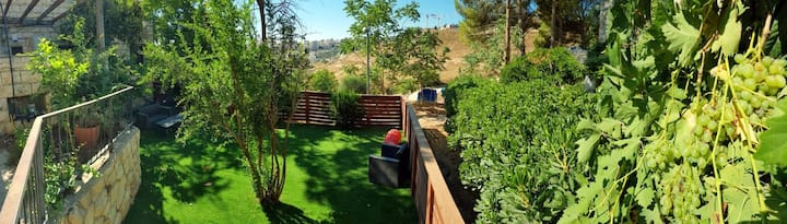 Mount Scopus 5 Rooms Garden Apartment at Jerusalem