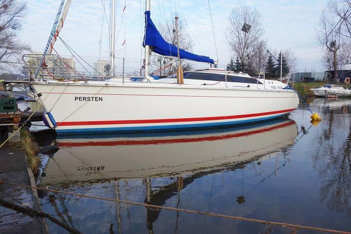 Sailing boat in marina Gdansk
