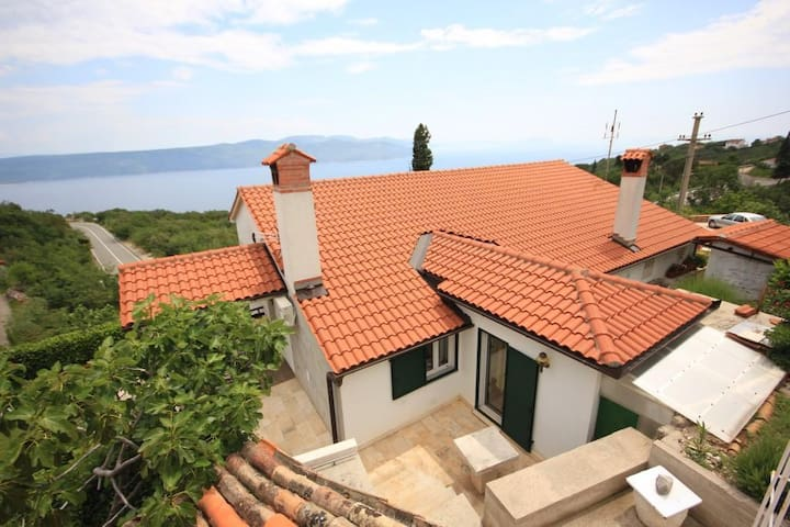 One bedroom house with terrace and sea view Zagore, Opatija (K-7921)