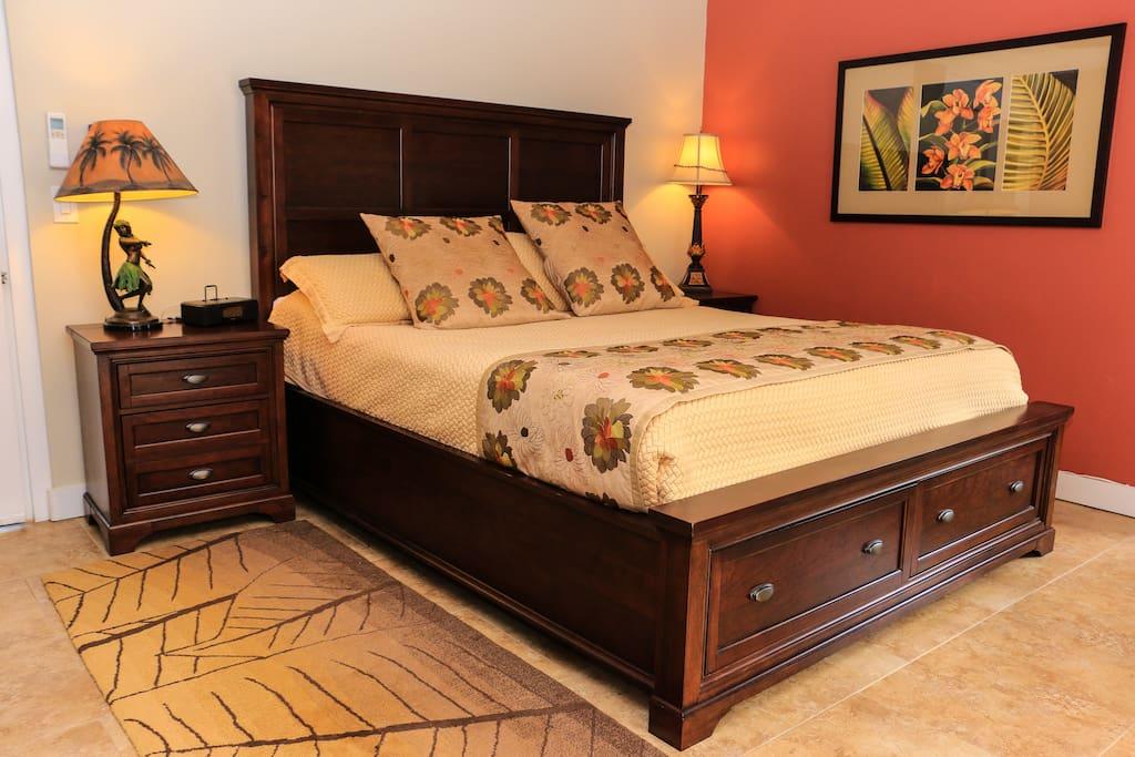 Cozy master bedroom at HBR 5201