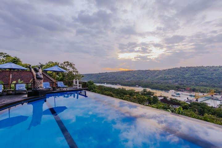 """""""BukitAncak lembongan villa"""" sunrise 2bedroomfor4"""