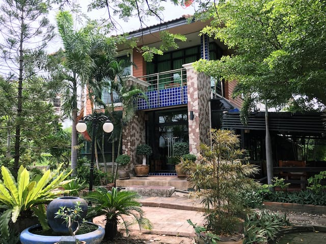 2 storey house with green space near Amata Nakorn