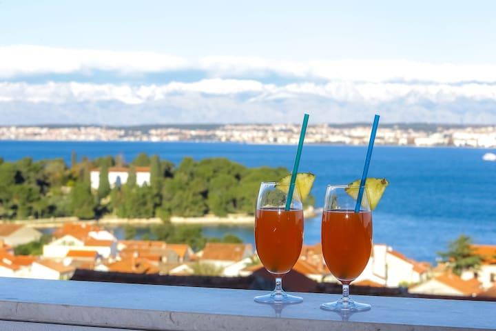 Villa Tina- Enjoy Pool & Zadar Archipelago View