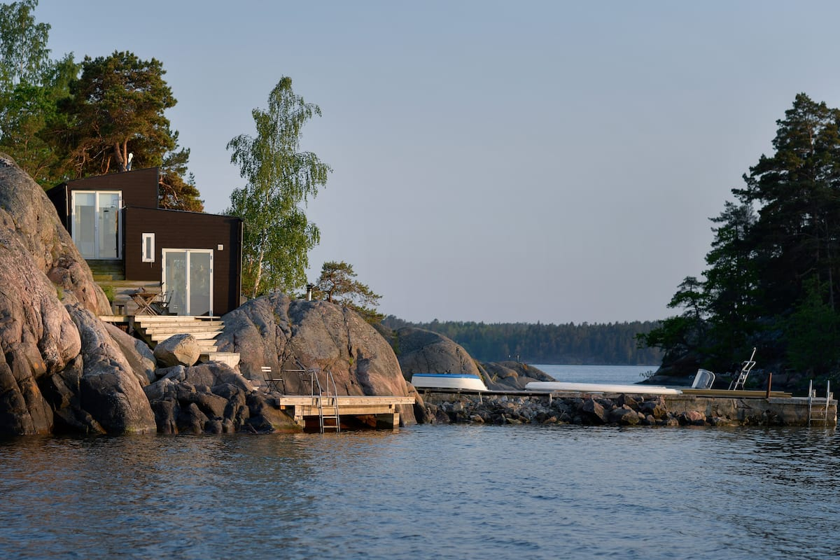 Sea Cottage on the Water with Waterside Sauna