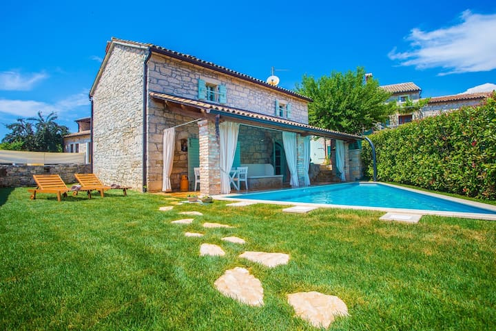 Charming Stone Villa Pakich with Private Pool