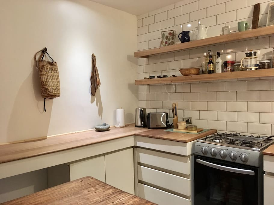 The kitchen is well laid out and fully equipped