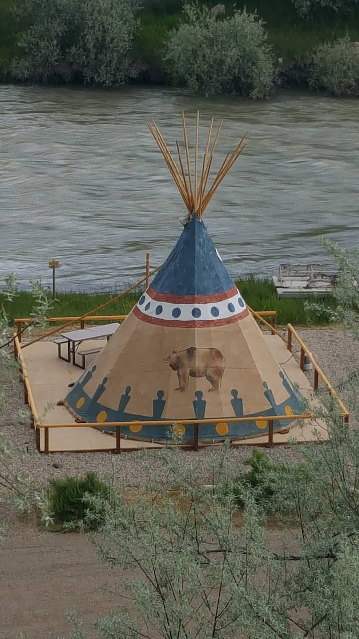 Cody Trout Ranch Camp Grizzly Tipi