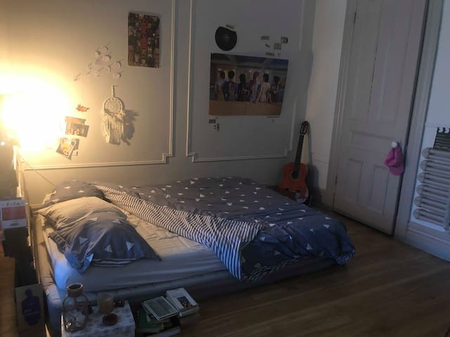Chambre dans grand appartement du Mile End