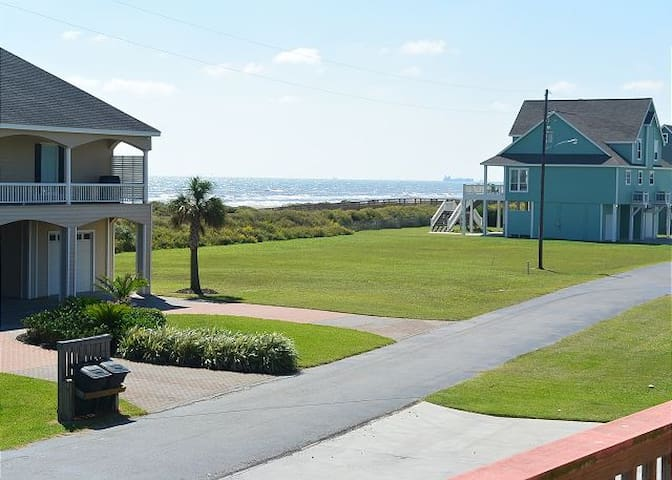 Ocean views from the front of the house
