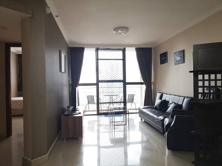 2BR @ Apt Aston Rasuna. City view. Prime location.